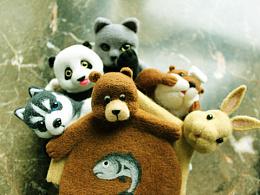 原创羊毛毡动物杯垫