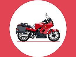 精细化摩托车图标