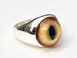 骸首饰原创设计师眼球指环手工925纯银镶嵌evileye猫眼对戒男女