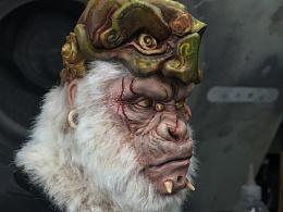 再涂末那冰山老师做的猩猩,特别版白化植发版
