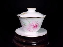 【釉上彩瓷】犹为离人照落花——茶具套组
