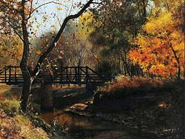 油画作品《秋阳》