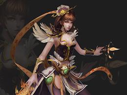 古代女术士人物设计