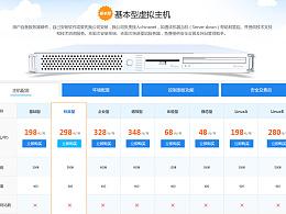 虚拟主机产品详情页