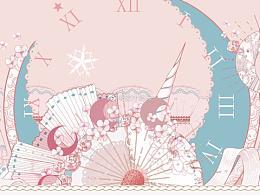 lolita柄图设计 《星月日 · 梦》— 南国幕蝶
