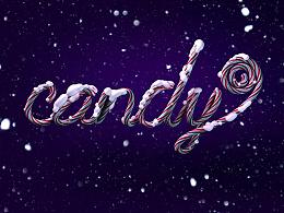 C4D练习--candy 糖果字