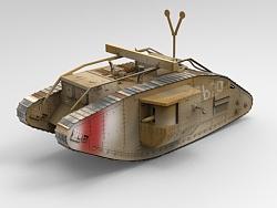 一战百年-Mark V Male Tank