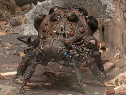 3D作品 《机械蜘蛛》