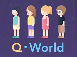 【UI设计概念稿】Q-World,在另外一个世界,创造属于自己的角色