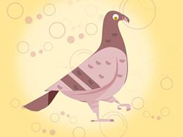 临摹 鸟一只 出处不详了  附上PSD可下载