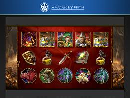 一套 勇者斗恶龙 主题的Slots图标