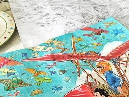 从草图、原稿到出版《飞吧!爸爸!!》