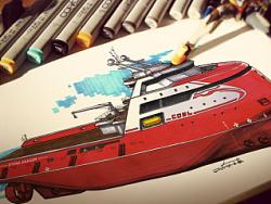 AHTS船舶外观设计
