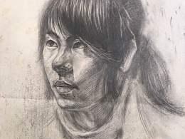 手绘人物头像 素描写生