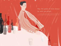插画练习-The grace of God.