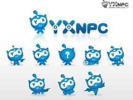 yxnpc网站logo人物设计
