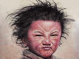 圆珠笔画-《藏家男孩》