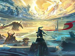 《仙侠世界》2概念设计以及宣传海报系列作品