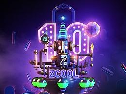 Z神,站酷十周年贺图 C4D