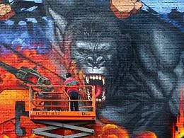 《金刚:骷髅岛》电影前期创意宣传活动