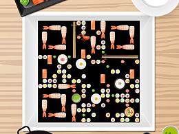 寿司二维码设计