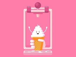 奶油冰淇淋动效练习!~