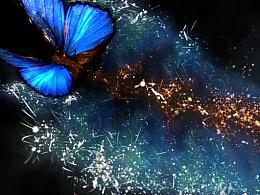 学习AE粒子、C4D和AE互导必学教程之绽放的蝴蝶