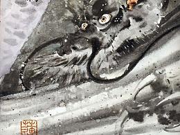 【新岩彩】立粉贴金!油画布上的水墨味儿