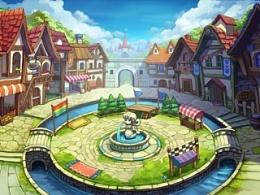 游戏原画场景地图