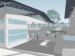 西安工程大学(临潼校区)文体中心建筑方案设计(竞赛二等奖)