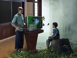 裸眼3D显示器 宣传海报