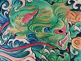 皮雕:福狮绘雕花的不完全进化史