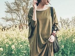 【向日葵记忆】原创女式文艺复古棉麻连衣裙长袖长裙袍子秋装