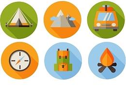野外露营图标练习