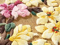 盘金挂毯《玉堂富贵图》