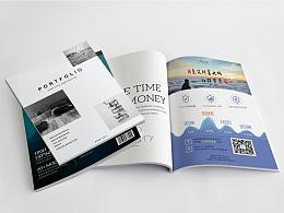 贺卡卡片和杂志底页