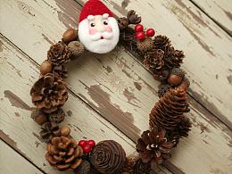 囍囍的羊毛毡 之 圣诞花环
