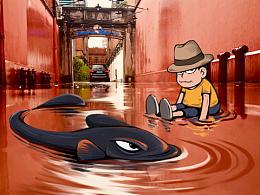 噫哇原创系列之——威海路的雨