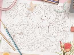 书籍插图 ▎《成长吧,少年》插图线稿