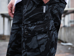 HELL BOY X SABCIETY   军事风迷彩短裤