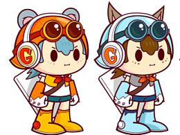 角色设计练习一组  Ener-Gee 能量小人儿
