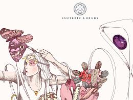 Esoteric Luxury 珠宝插画