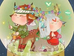 圣诞节快乐~阴阳师手游同人~小鹿男