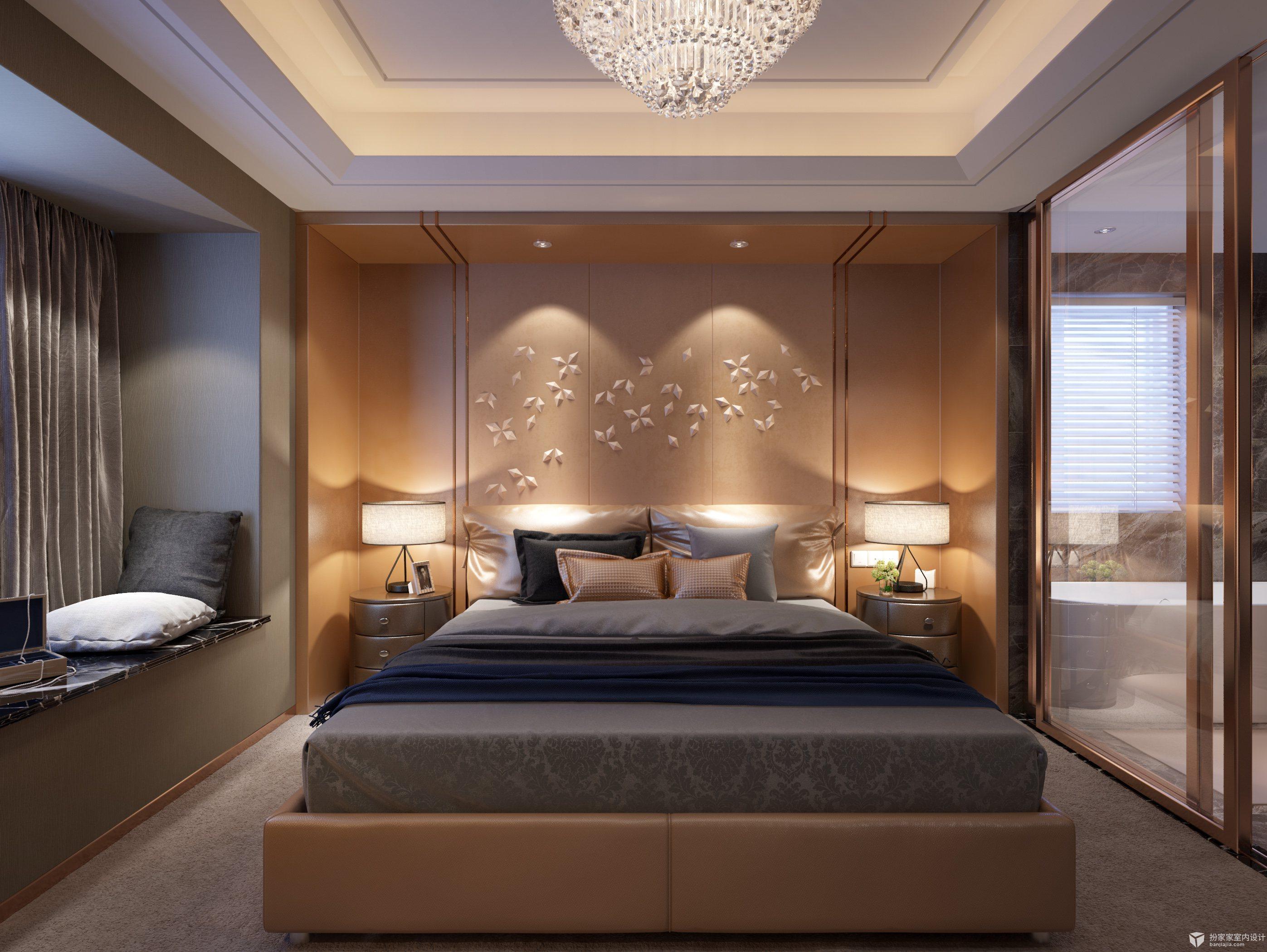 【室内设计效果图】爱它就给它做个场景2(现代卧室)图片