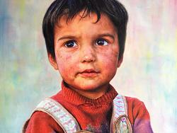 Tajik 男孩系列油画~步骤图!