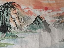 最近画的一幅山水画