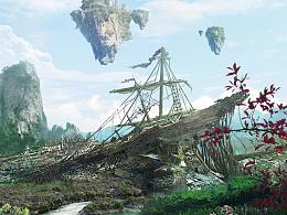 游戏宣传片数字绘景