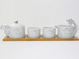 天龙八部创意龙型茶具