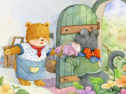 小熊熊,请客啦!