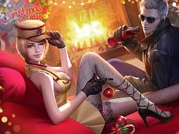 为游戏《穿越火线:荒岛特训》创作的主体KV和圣诞KV
